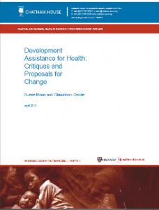 Development assistance for health DAH, Critiques