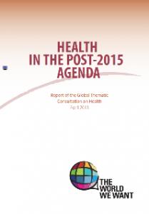Health in the Post-2015 Agenda