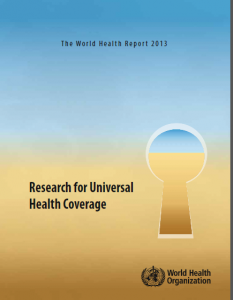 World Health Report on UHC 2013