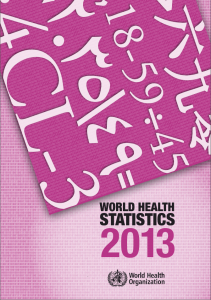 World Health Statistics 2013